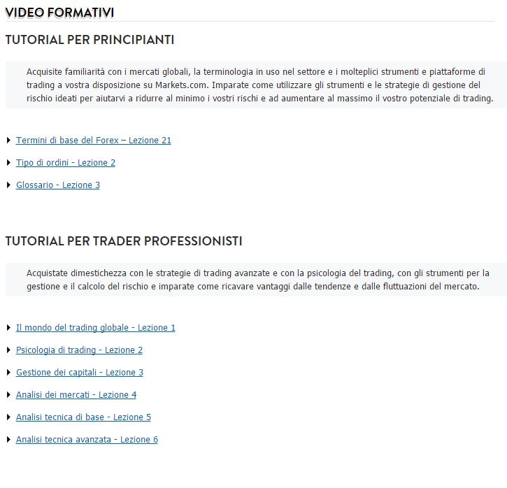 trading markets com video
