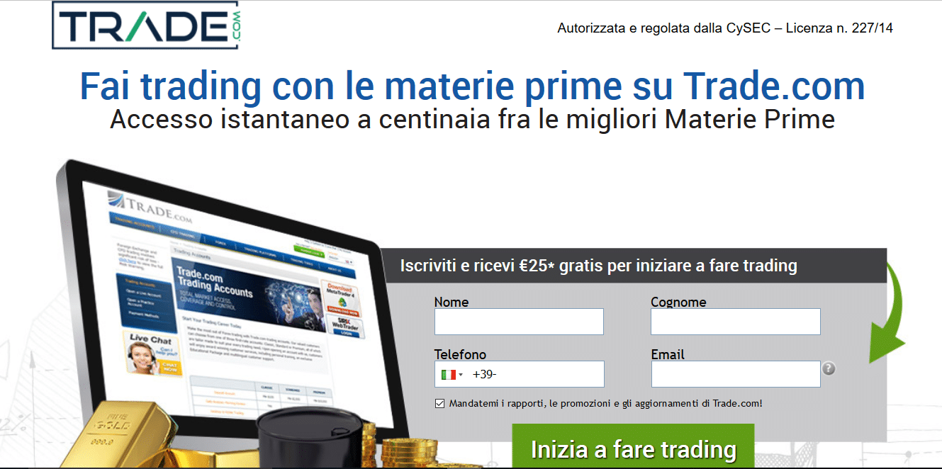 trading materie prime