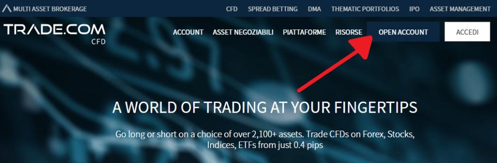 sito ufficiale di trade.com per aprire conto