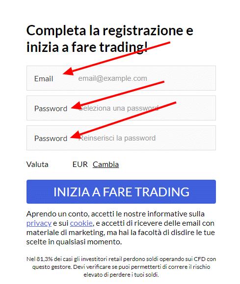 modulo apertura demo markets.com