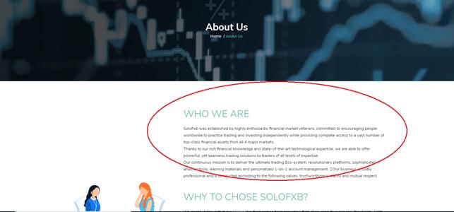 SoloFXB broker affidabile è meglio non iscriversi perché truffa
