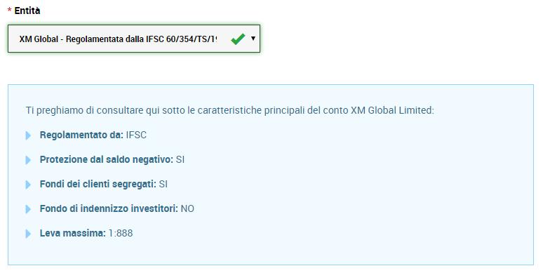 registrarsi a XM CySEC o IFSC