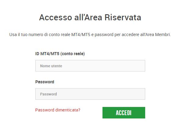 accesso a xm.com login