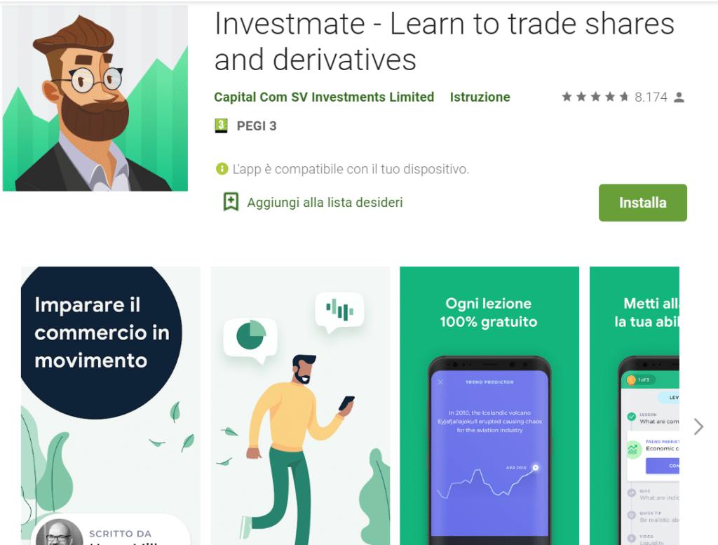 Investmate - piattaforma di formazione esclusiva del broker trading Capital.com