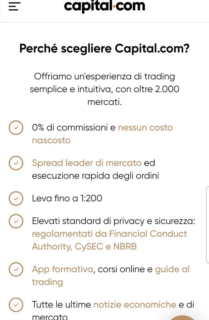 Perchè Capital.com: vantaggi esclusivi