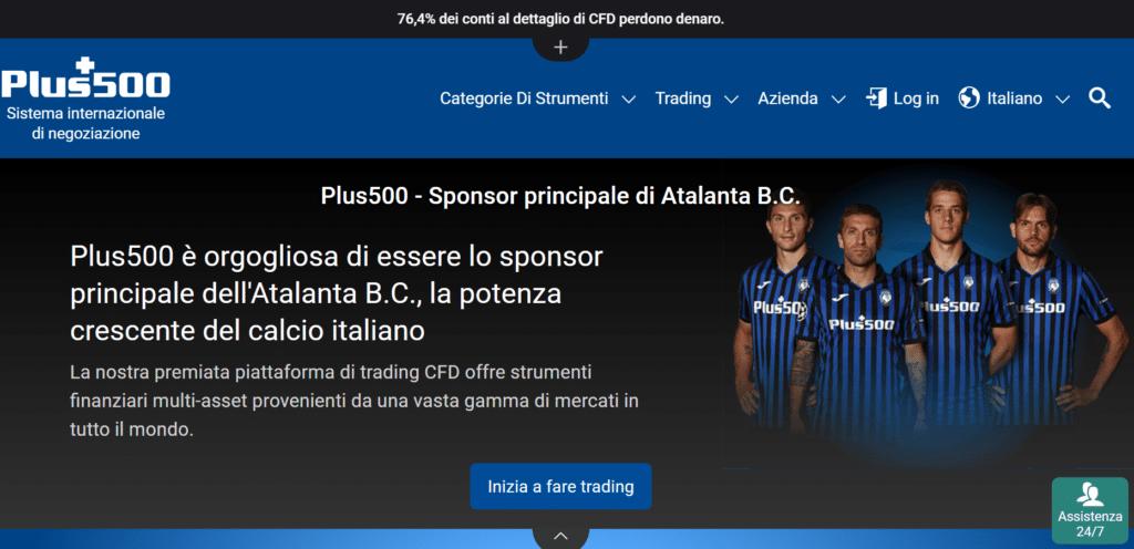 Plus500 atalanta calcio