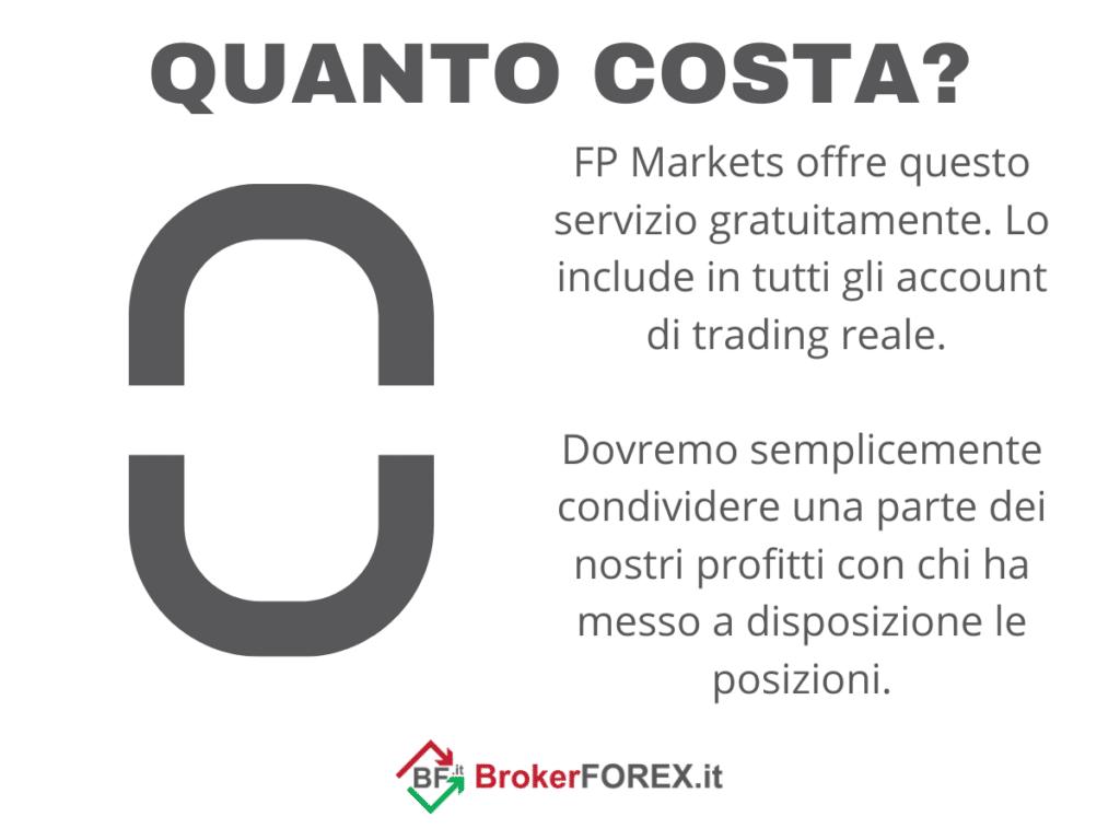 Costi COpyTrading di FP Markets - infografica a cura di Brokerforex.it