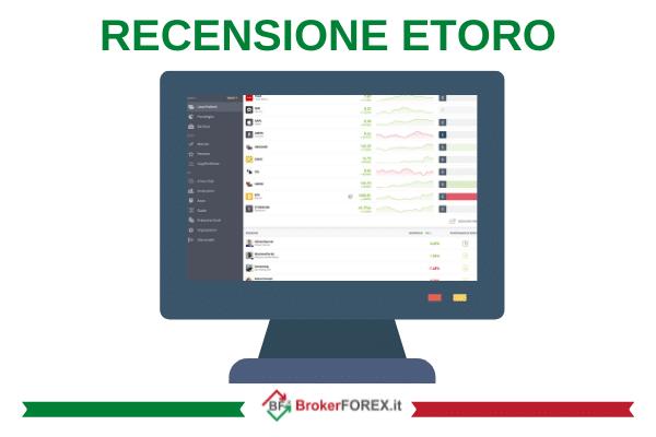 Recensione completa con opinioni reali su eToro - guida realizzata dagli esperti di Brokerforex.it.