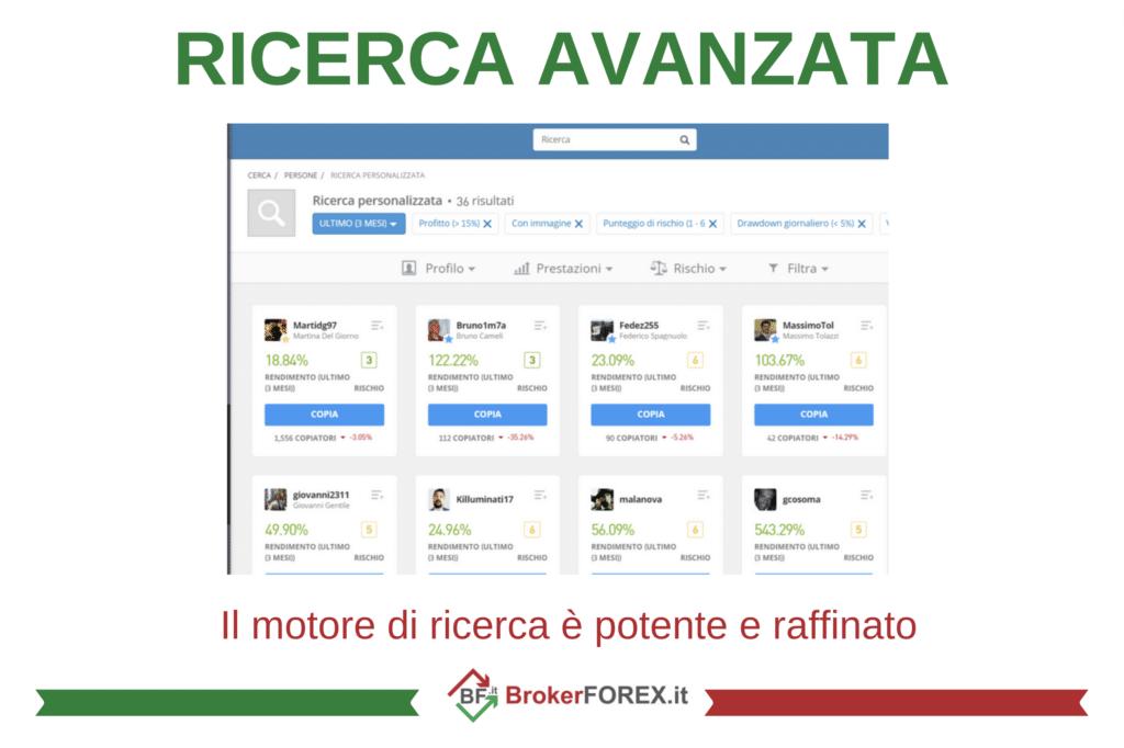 Motore di ricerca di eToro - di BrokerForex.it