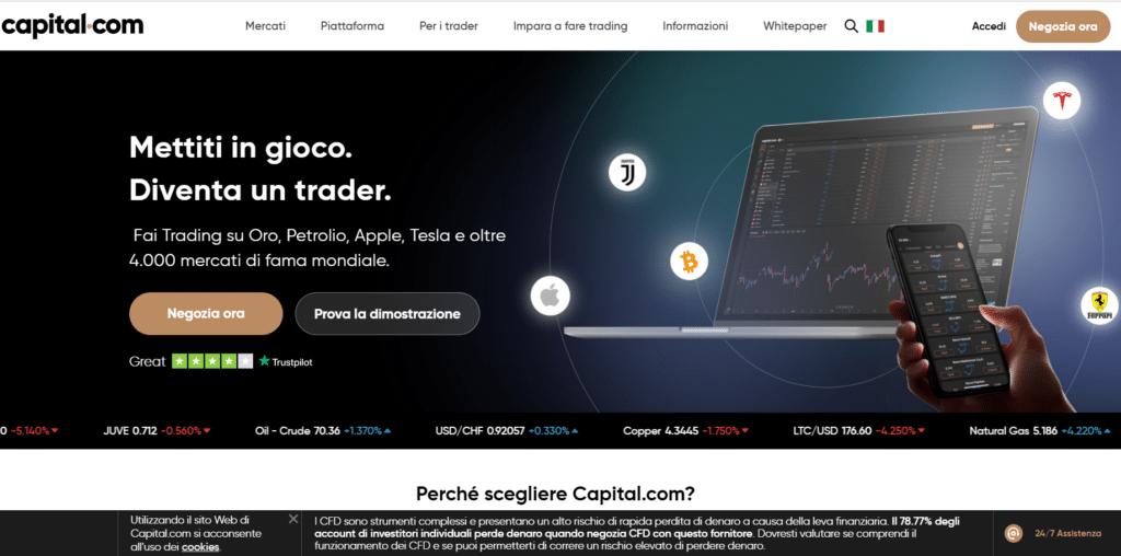 capital.com - top broker forex 2021 - scelto tra i migliori broker forex di brokerforex.it